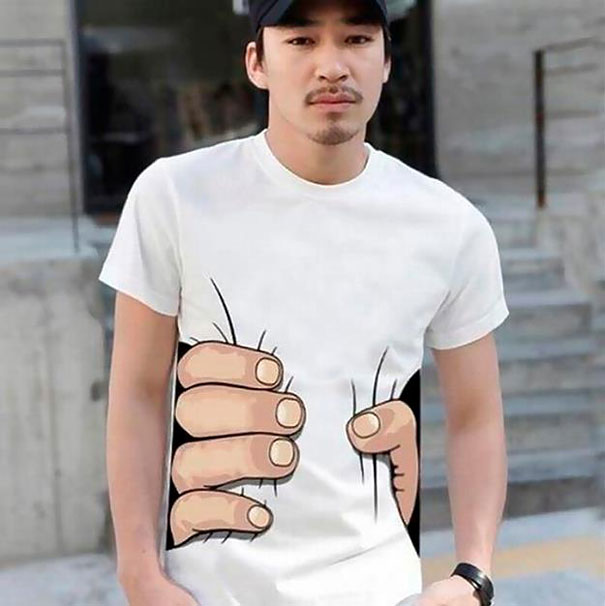 illusion insolite - T-Shirt Main Géante