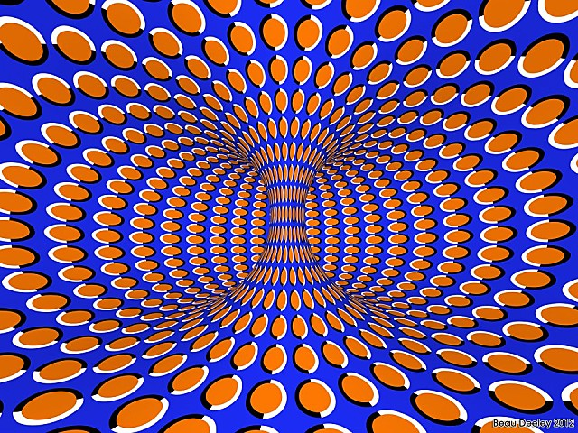 illusion mouvement - Vortex rotatif