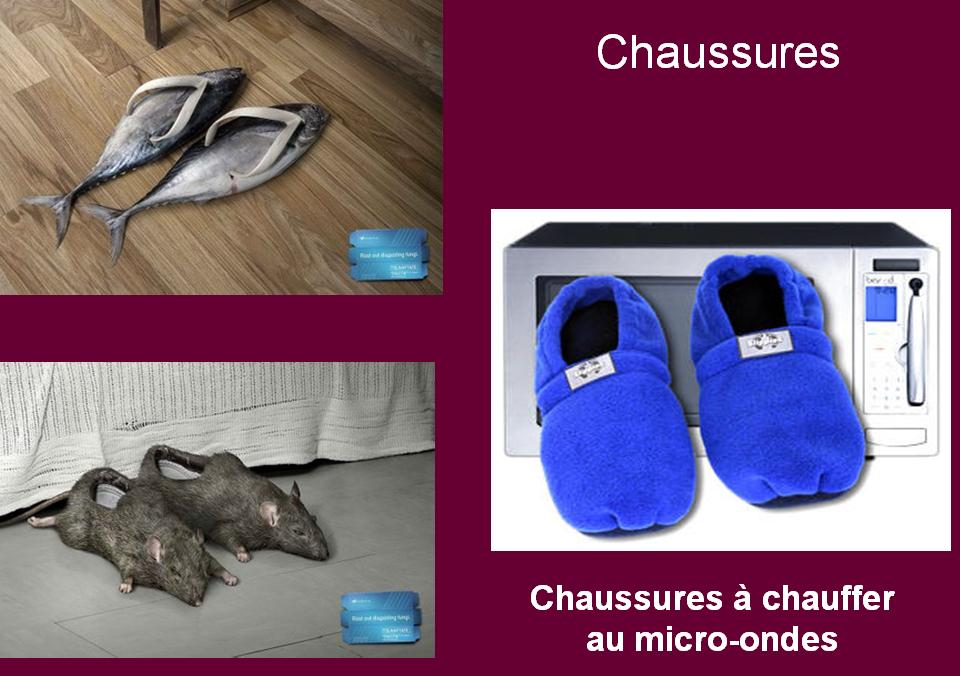 invention insolite : chaussons animaux